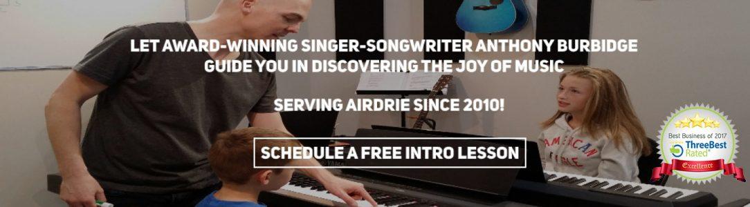 airdrie music lessons Anthony Burbidge