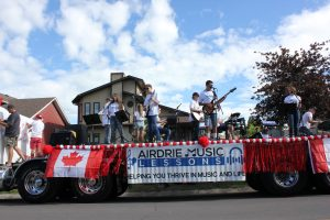 Airdrie Music Lessons Canada Day float